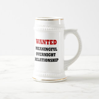 Wanted Relationship Beer Steins