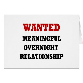 Wanted Relationship Greeting Card