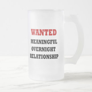 Wanted Relationship Frosted Glass Mug
