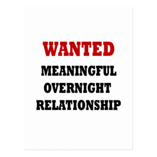 Wanted Relationship Postcard