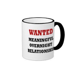 Wanted Relationship Ringer Mug