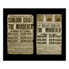 Wanted/Reward Poster Duo: Booth, Surratt, Harold