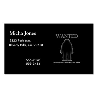 Wanted Sasquatch In Woods Shadow Effect Pack Of Standard Business Cards