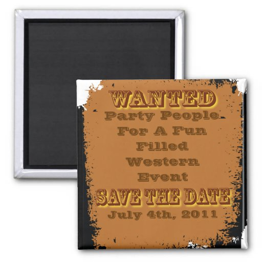 wanted save the date magnet magnets