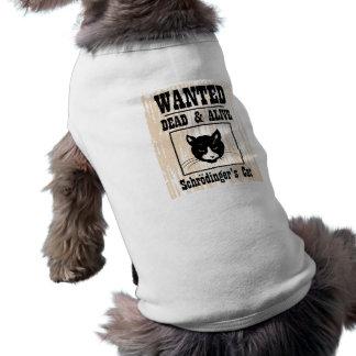 Wanted Schrodinger's Cat Dog T-shirt