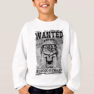 Wanted Skull King Skeleton Sweatshirt