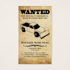 wanted : snow plough services business card