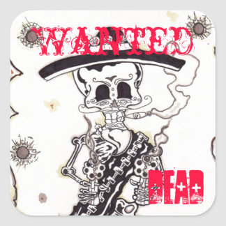 Wanted Square Sticker