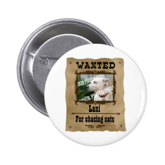 Wanted Wild West Poster Pet Custom Photo Template 6 Cm Round Badge