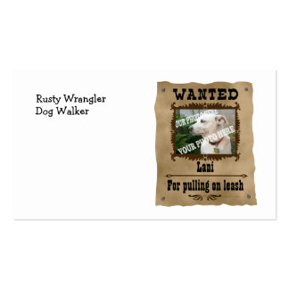 Wanted Wild West Poster Pet Custom Photo Template Business Cards