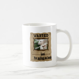 Wanted Wild West Poster Pet Custom Photo Template Coffee Mug