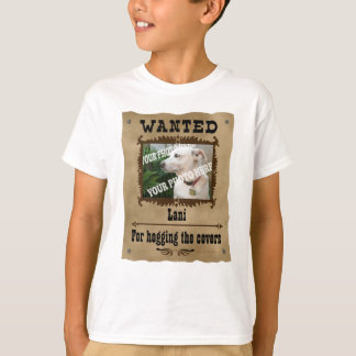 Wanted Wild West Poster Pet Custom Photo Template Tshirts
