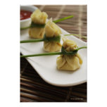wanton dumplings with white chilli sauce poster