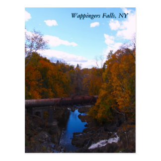 Wappingers Falls in Autumn Postcard