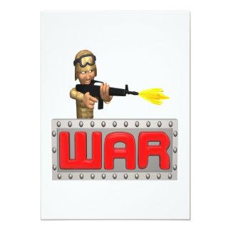 War 13 Cm X 18 Cm Invitation Card