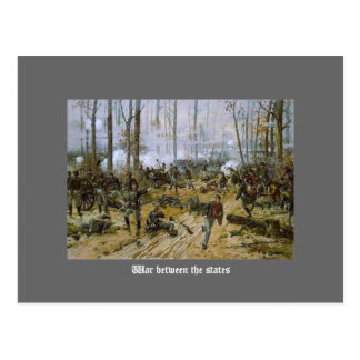 War between the states postcard