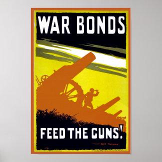 War Bonds ~ Feed The Guns Poster