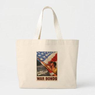 War Bonds World War 2 Canvas Bags