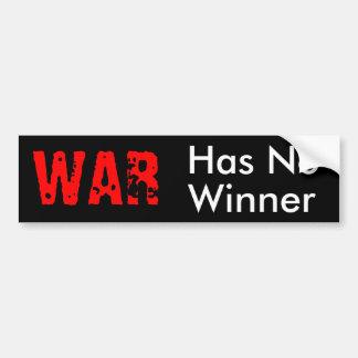 WAR CAR BUMPER STICKER