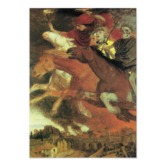 War by Arnold Bocklin Scary, Creepy Halloween Card