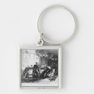War council at Versailles Prefecture Silver-Colored Square Key Ring