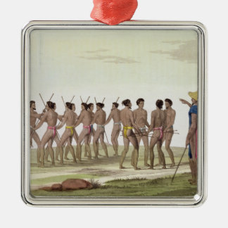 War Dance of the Caroline Islanders, plate 22 from Christmas Ornament
