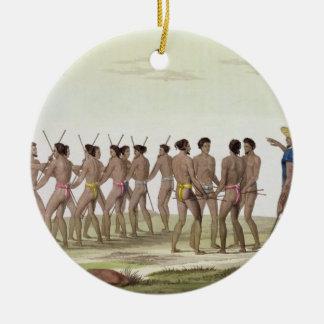 War Dance of the Caroline Islanders, plate 22 from Round Ceramic Decoration