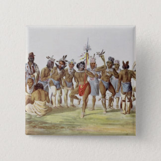 War Dance of the Sauks and Foxes 15 Cm Square Badge