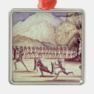 War Dance Silver-Colored Square Decoration