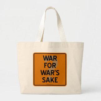 WAR FOR WAR'S SAKE? JUMBO TOTE BAG