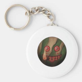 War Grin Basic Round Button Key Ring