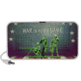 War is Not a Game Patriotic Design Mini Speaker