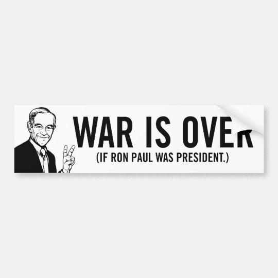 War Is Over Ron Paul Bumper Sticker