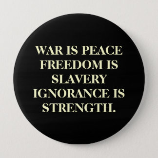 War Is Peace 10 Cm Round Badge
