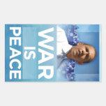 War Is Peace Obama Sticker