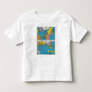 War map Atlantic, Eurasia, Africa, Pacific Ocean Toddler T-Shirt