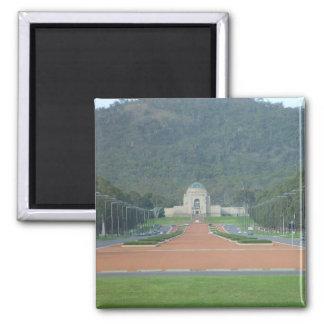 War Memorial At Canberra In Australian Capital Ter Square Magnet