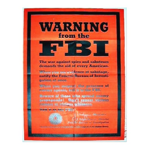 War Ning From The Fbi Flyers