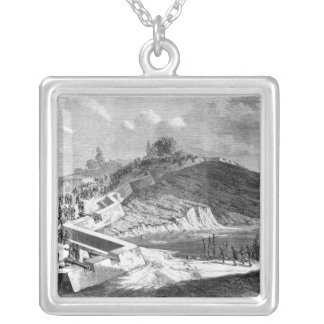 War of Duchies, Danish fortifications Silver Plated Necklace