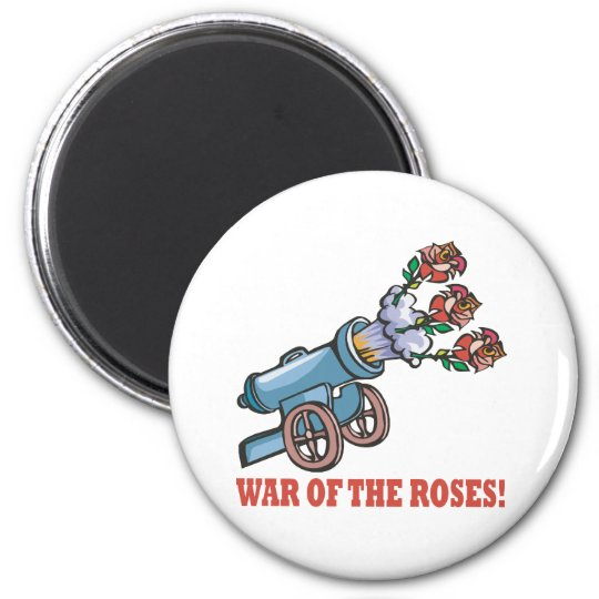 War Of The Roses 6 Cm Round Magnet