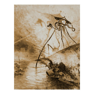 War Of The Worlds Martians In The Thames Valley Poster