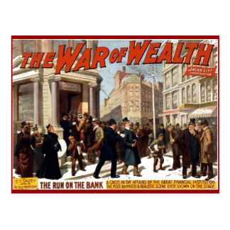 War of Wealth - Postcard