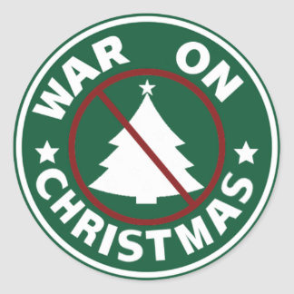 War On Christmas (Tree) Classic Round Sticker