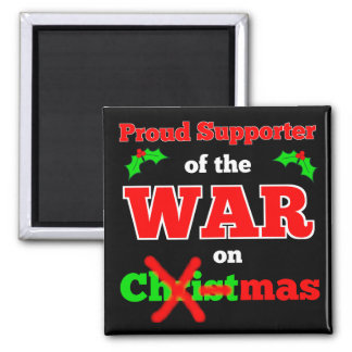 """War on Christmas"" X-Mas Magnet (Black)"