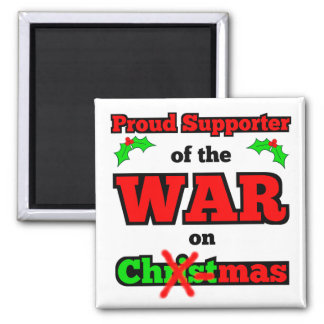 """War on Christmas"" X-Mas Magnet (White)"