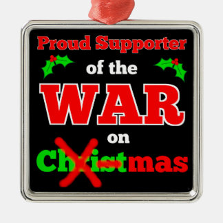 War on Christmas X-mas Ornament (Black)