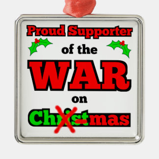 """War on Christmas"" X-mas Ornament (White)"