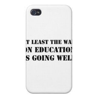 War On Education iPhone 4/4S Cases