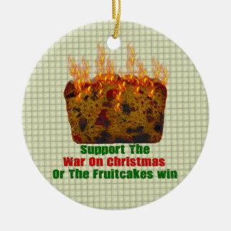 War On Fruitcakes Christmas Tree Ornament