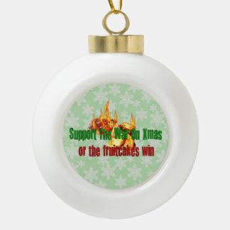 War On Fruitcakes Ornaments
